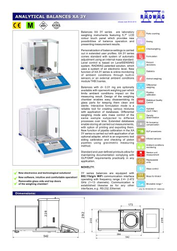 ANALYTICAL BALANCES XA 3Y