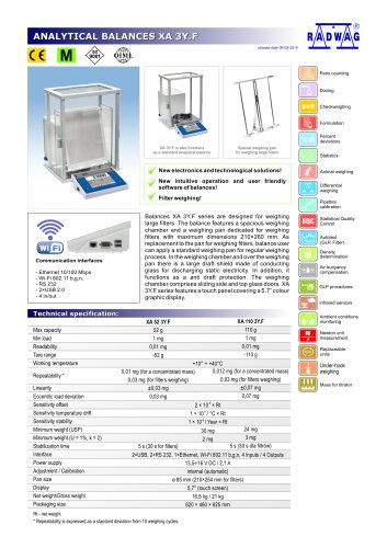 ANALYTICAL BALANCES XA 3Y.F