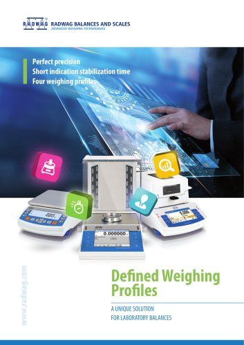 DEFINED WEIGHING PROFILES