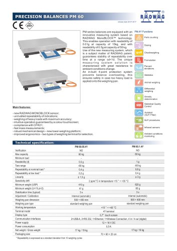 PRECISION BALANCES PM 60
