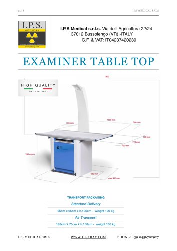 Examiner Table Top - VTX0020