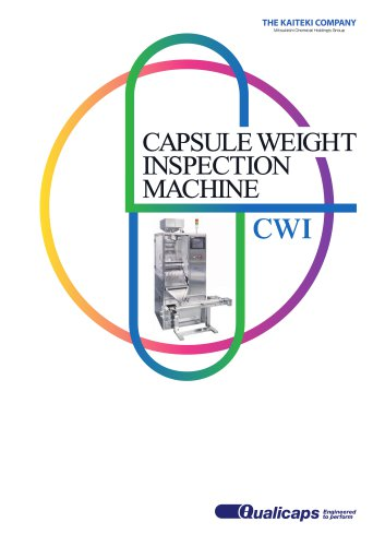 CWI - Capsule Weight Inspection Machine