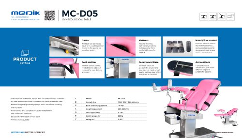 MC-D05 Gynecological operatin table