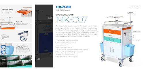 MK-C07 Emergency crash carts for hospitals