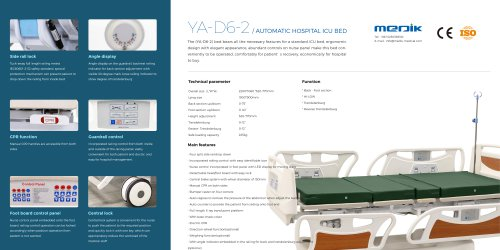 YA-D6-2 Fully Electric Hospital Bed