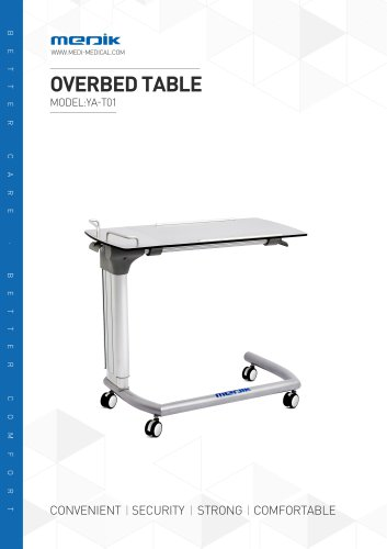 YA-T01 Tilting overbed table Medik