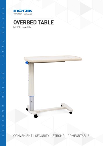 YA-T02 Hospital bedside table Medik