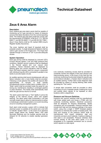 Area Medical Gas Alarm