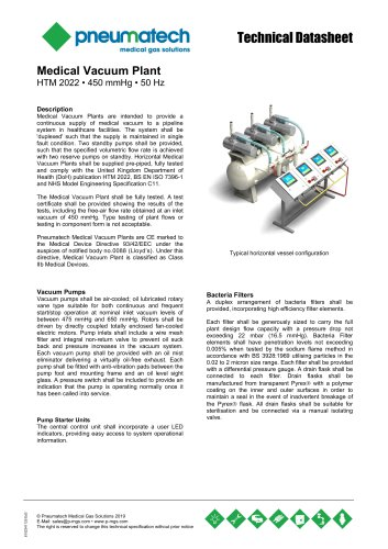 Lubricated Rotary Vane Vacuum Systems - HTM 2022 - 50 Hz