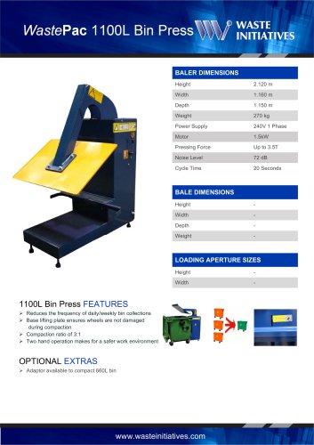 WastePac 1100L Bin Press