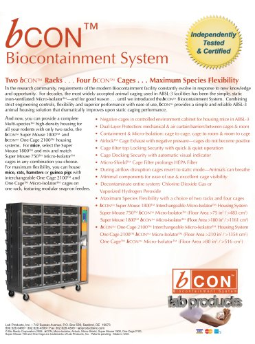 bCON™ Biocontainment System Brochure