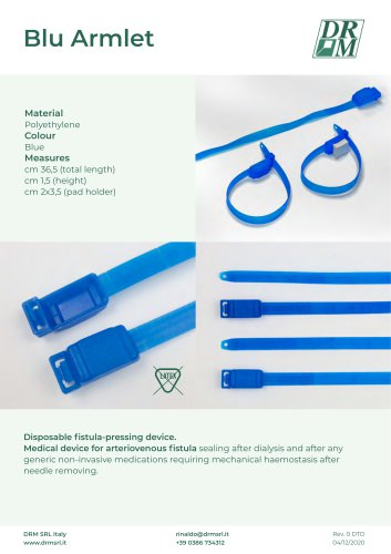 BLU ARMLET_disposable fistula-pressing device - dispositivo premifistola monouso