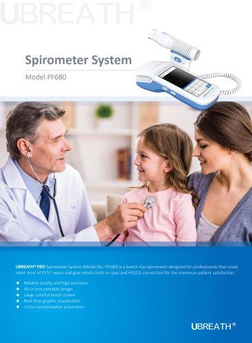 UBREATH Spirometer System PF680