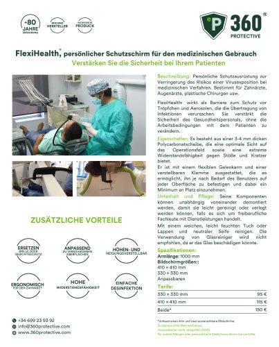 FlexiHealth,persönlicher Schutzschirm für den medizinischen Gebrauch