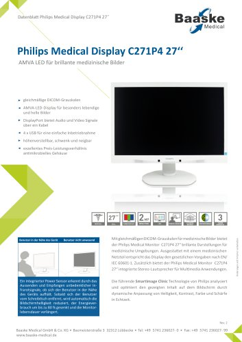 Philips Medical Display C271P4 27''