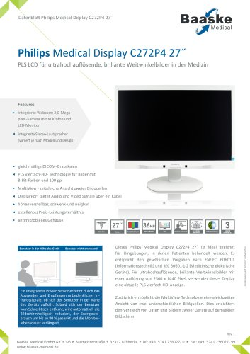 Philips Medical Display C272P4 27''