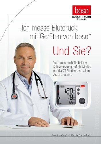 ?Ich messe Blutdruck   mit Geräten von boso.?