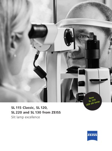 SL 115 Classic, SL 120, SL 220 and SL 130 from ZEISS Slit lamp excellence