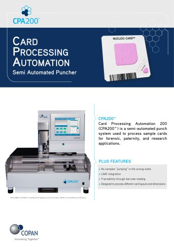 Card Processing Automation 200™ (CPA200™)