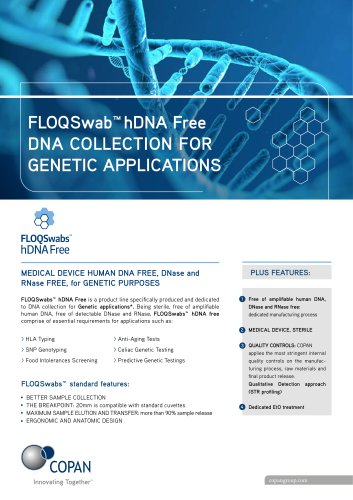hDNAfree FLOQSwabs
