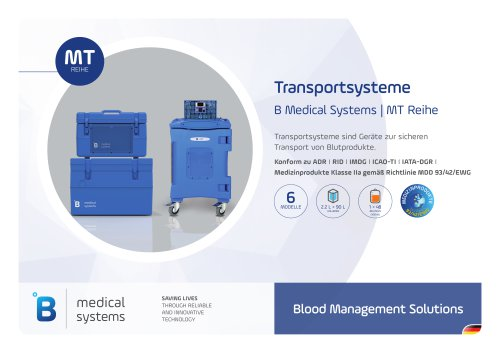 B Medical Systems Transportsysteme
