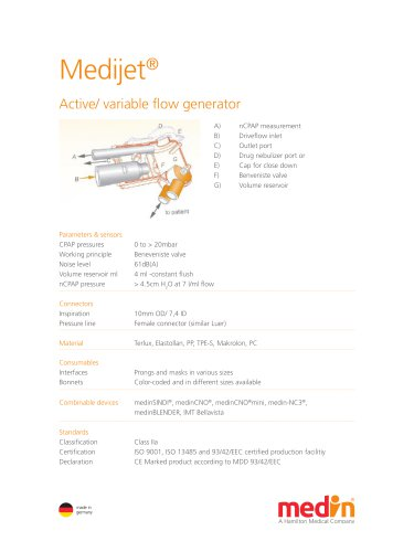 Technical Specifications Medijet