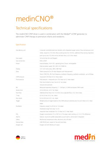 Technical Specifications medinCNO®