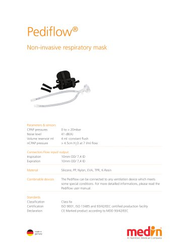 Technical Specifications Pediflow