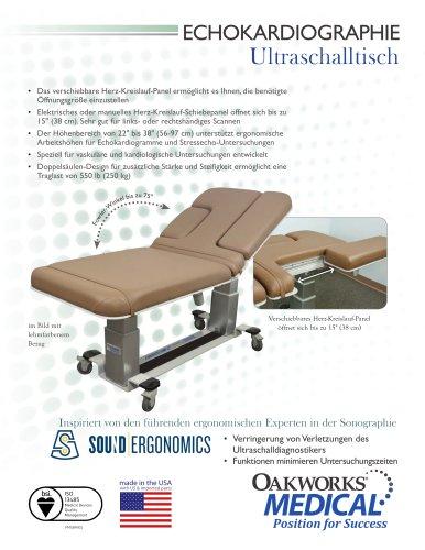 ECHOKARDIOGRAPHIE Ultraschalltisch