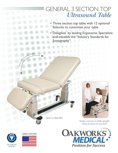 General 3-Section Top Ultrasound Table