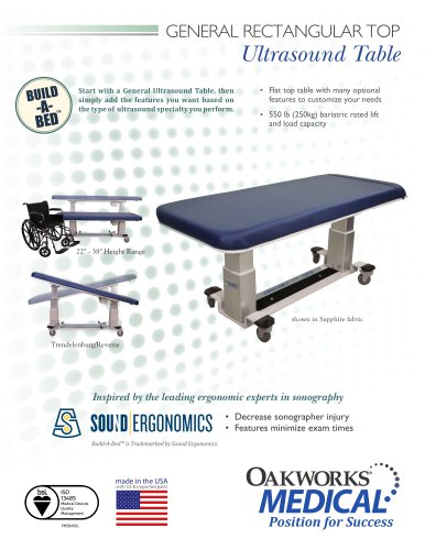 General Rectangular Top Table Ultrasound