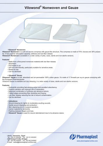 Vilowond Nonwoven and Gauze