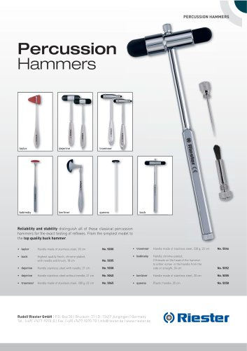 Percussion hammer