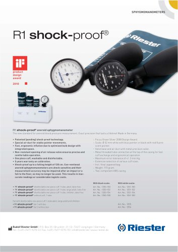 R1 shock-proof® Sphygmomanometer