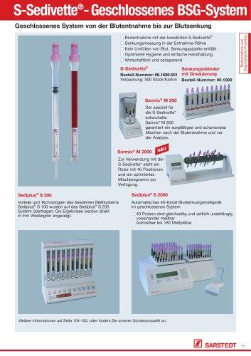 S-Sedivette®- Geschlossenes BSG-System