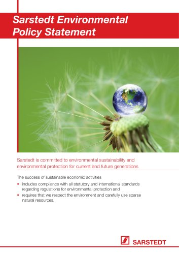 Sarstedt Environmental Policy Statement