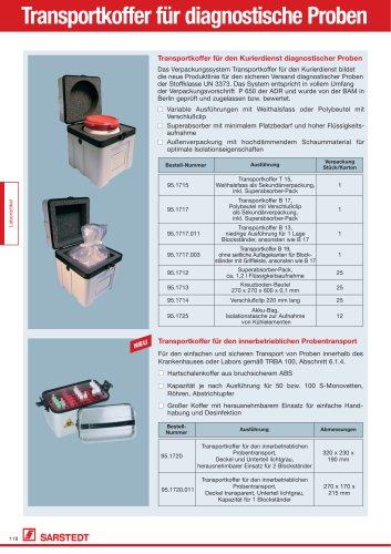 Transportkoffer für diagnostische Proben
