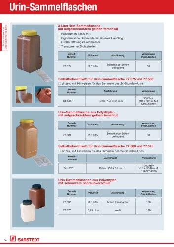 Urin-Sammelflaschen