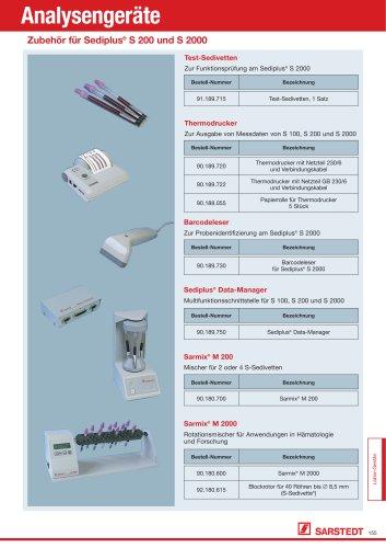Zubehör für Sediplus® S 200 und S 2000
