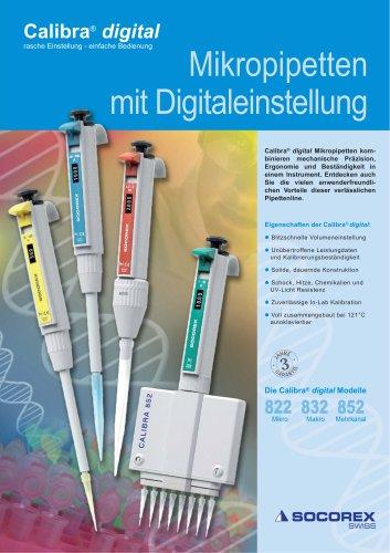 Digital adjustment micropipettes
