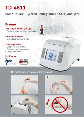 TD-4611 HbA1c auto analyzer