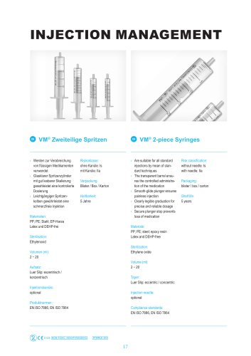 2-piece syringes