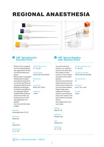 VM® Spinal Needles