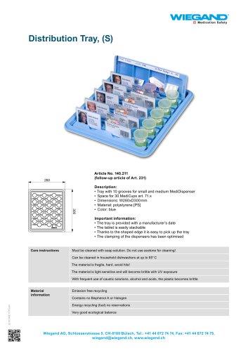 Distribution Tray, (S)