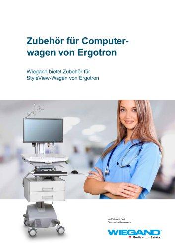 Wiegand Broschüre: Zubehör für Ergotron Computerwagen