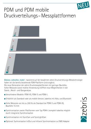 PDM und PDM mobile Druckverteilungs-Messplattformen
