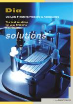 Dia Lens Finishing Products & Accessories