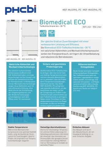 Biomedical ECO-Tiefkühlschränke bis –30 °C