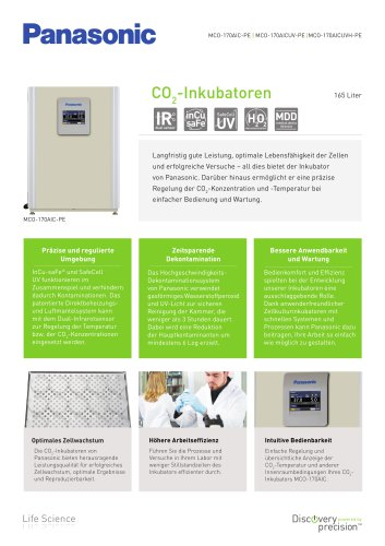 MCO-170AIC IncuSafe CO2-Inkubatoren