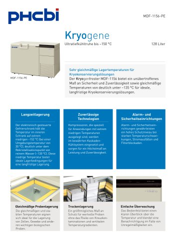 MDF-1156(ATN)-PE Kryogenfroster